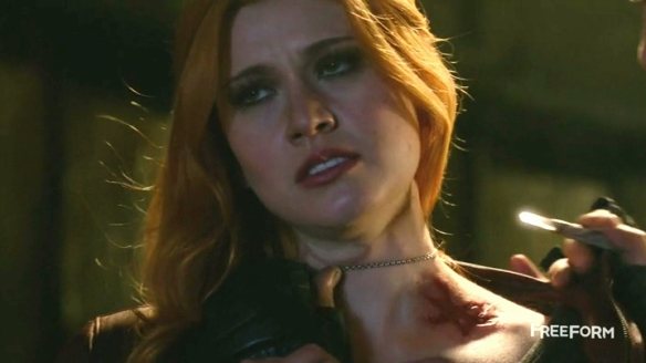 This is called the 'info-dump' rune, and Clary is reacting to it in much the same way I am.