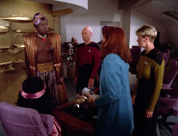"DR. CRUSHER: ""Don't worry, Lutan, some prunes and space Dulcolax will clear that constipation right up!"""
